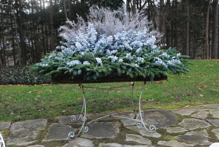 idée grande jardinière d'hiver