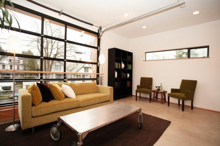 idée pour transformer un garage en habitation salon