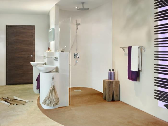 idée salle de bains douche à l'italienne
