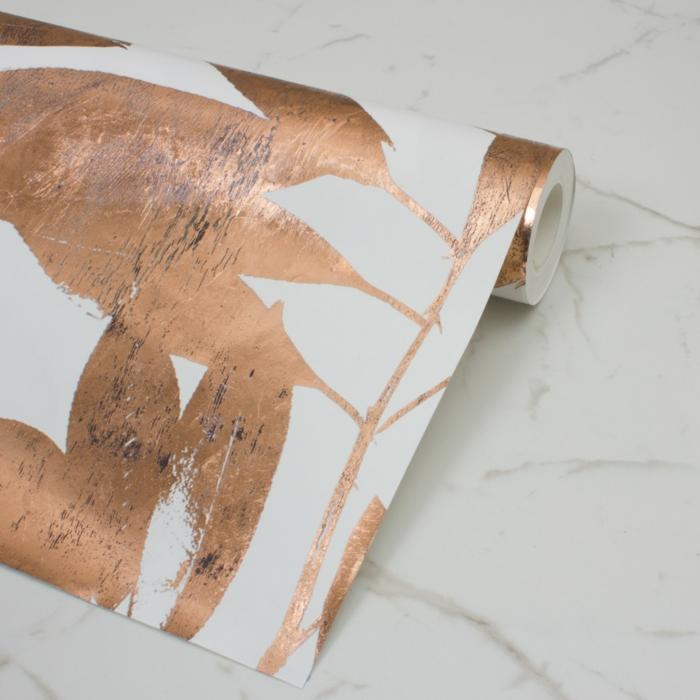 idées de décoration tendance avec du papier peint
