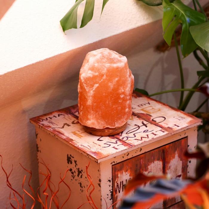 intégration lampe cristal de sel intérieur