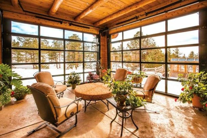 jardin d'hiver transformer un garage en habitation