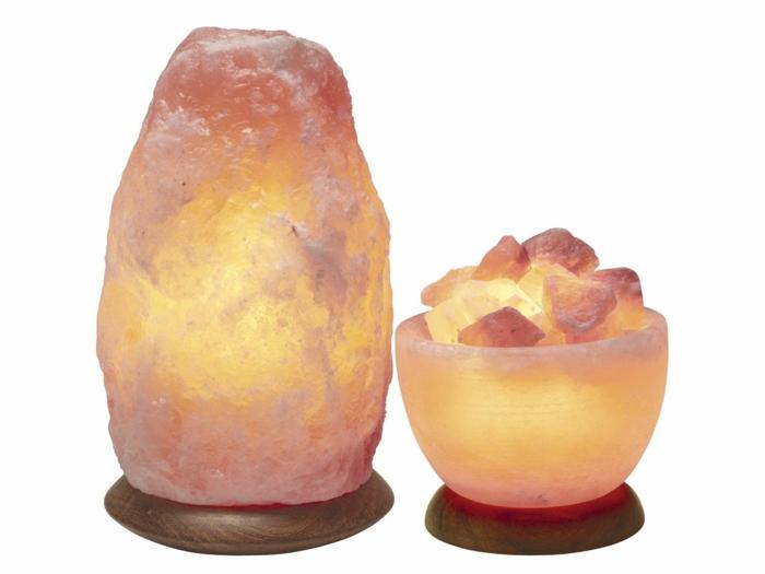 lampe cristal de sel de l'himalaya