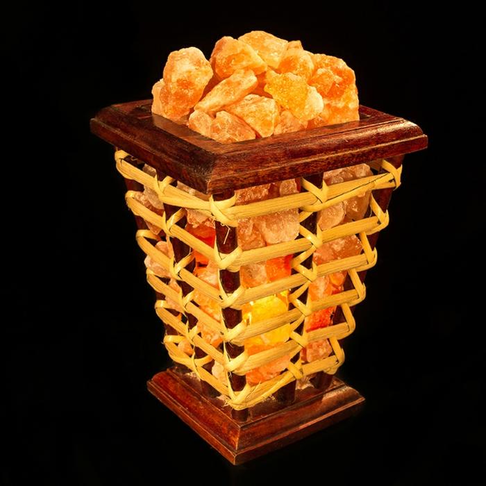 lampe cristal de sel design