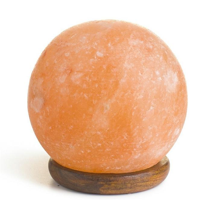 lampe cristal de sel forme de boule