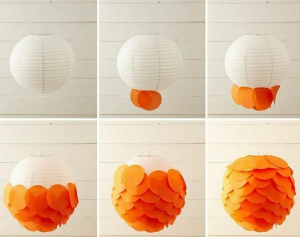 lanterne chinoise diy tissu et papier