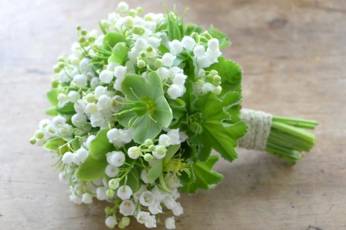 le langage des fleurs avec des muguets