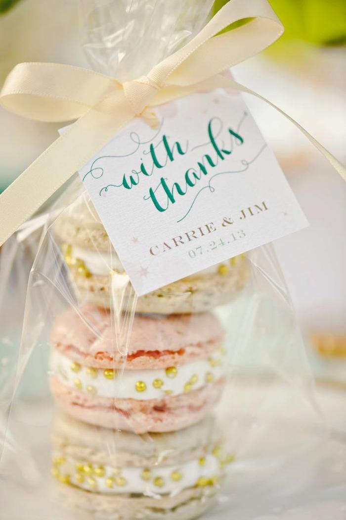 macarons idée de cadeau invités mariage
