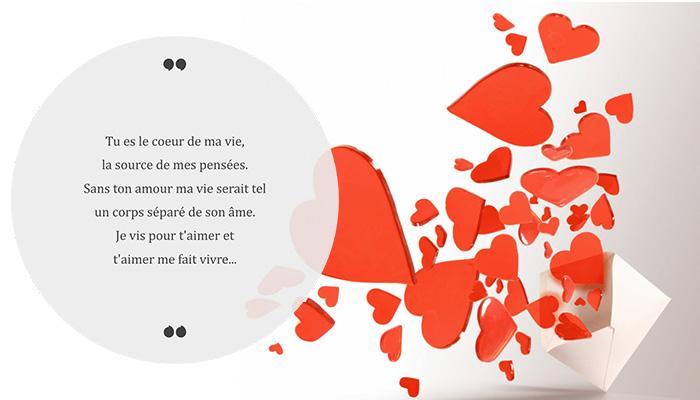message saint valentin poème romantique