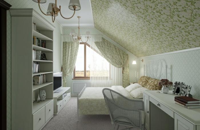 papier peint plafond chambre à coucher