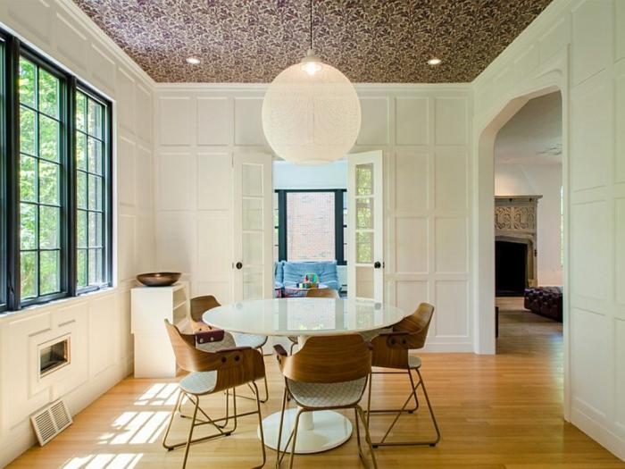 papier peint plafond salle à manger