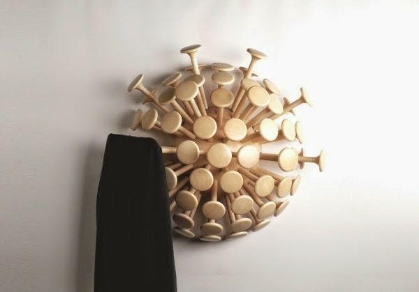 patère design élégant bois