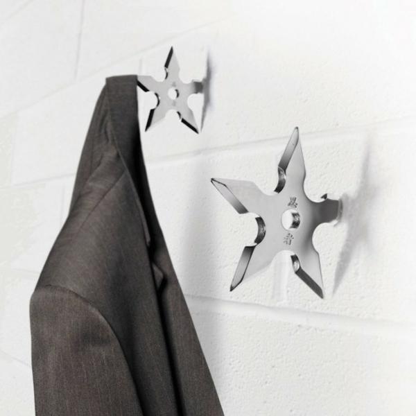 patère design étoile métallique