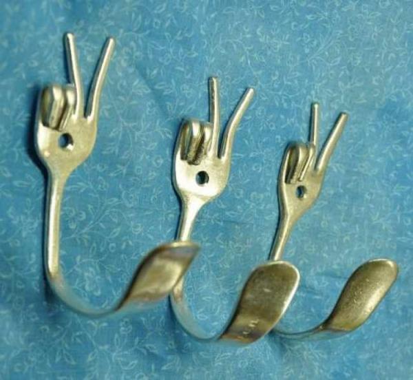 patère design ancienne fourchette