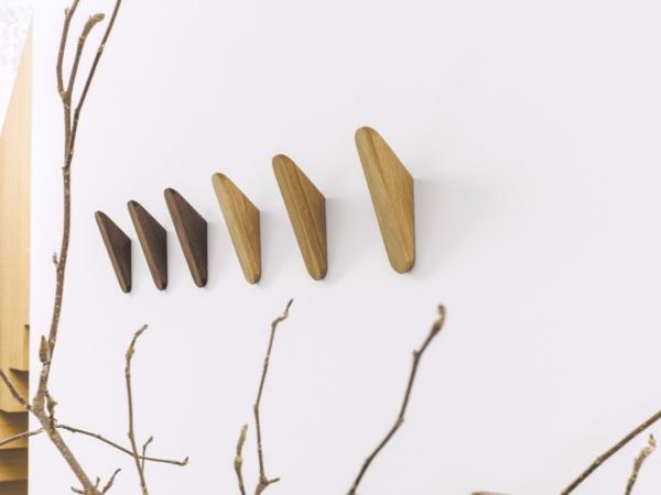 patère design bois crochets muraux