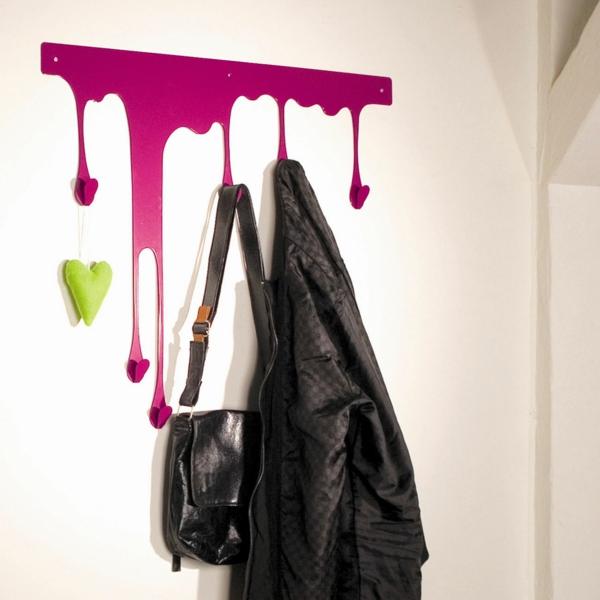 patère design imitation peinture coulante
