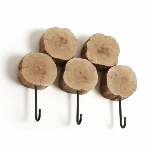 patère design imitation rondin de bois coupé