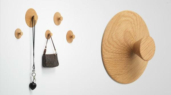 patère design massif en bois