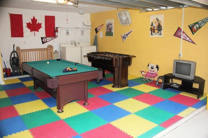 pièce de jeux enfants transformer un garage en habitation