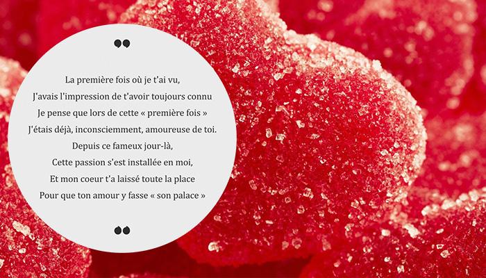poème romantique fête des amoureux