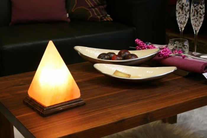 pyramide lampe cristal de sel intérieur