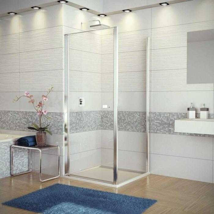 salle de bains design épuré douche à l'italienne