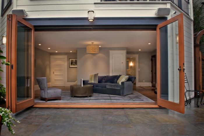 salon installé dans le garage transformer un garage en habitation