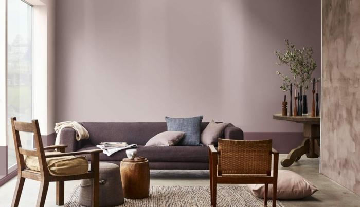 salon moderne en brun cachemire idées déco salon