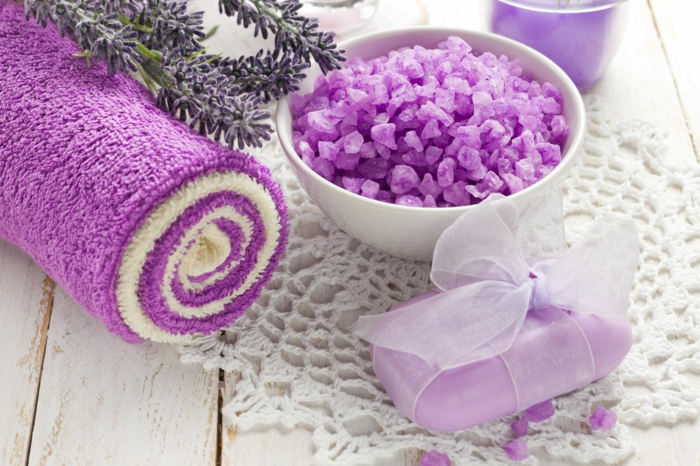 savon et sel de bain lavande essence de lavande