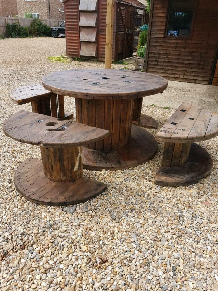 table et chaises diy facile en touret bois