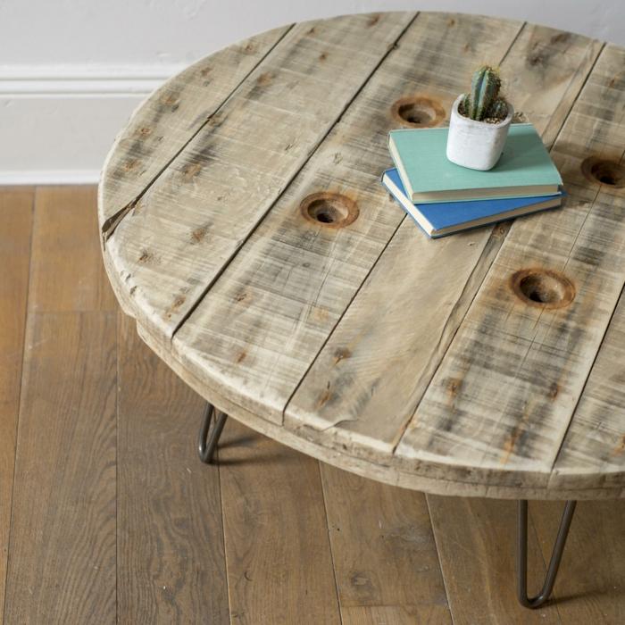 table moderne de touret bois