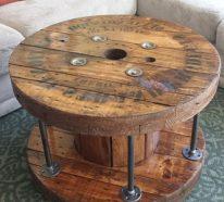 Touret bois – DIY idées faciles pour un meuble unique