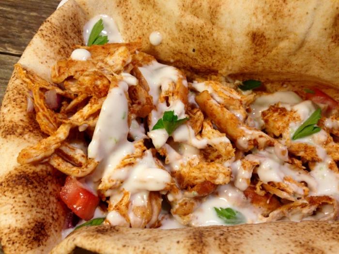tacos au poulet sauce fromagère tacos