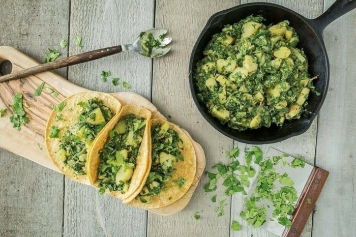 tacos végans sauce fromagère tacos