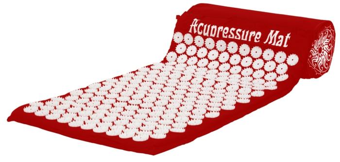 tapis d' acupression en rouge
