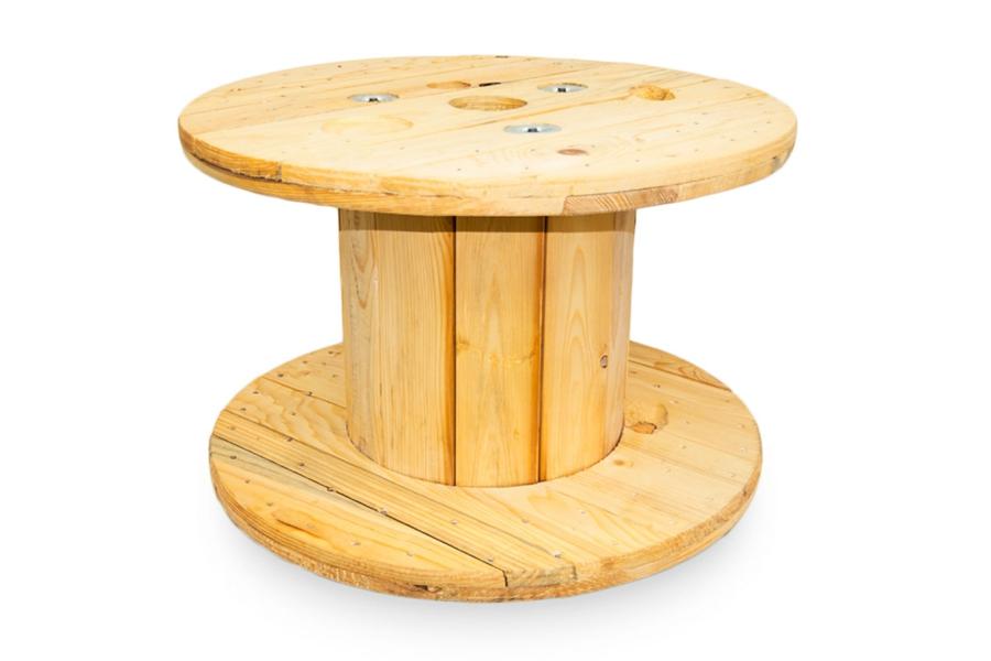 touret bois touret en bois clair 80 cm de diam tre. Black Bedroom Furniture Sets. Home Design Ideas