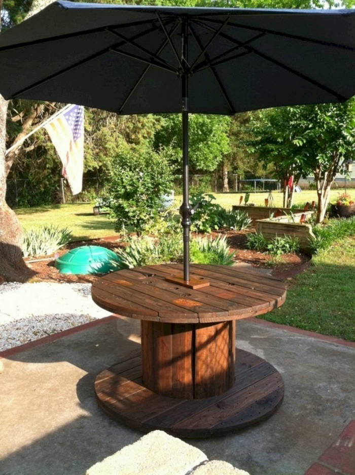 touret bois pour un meuble jardin DIY