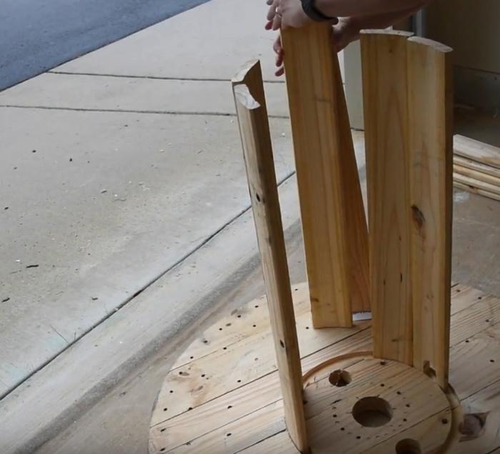 touret bois table moderne