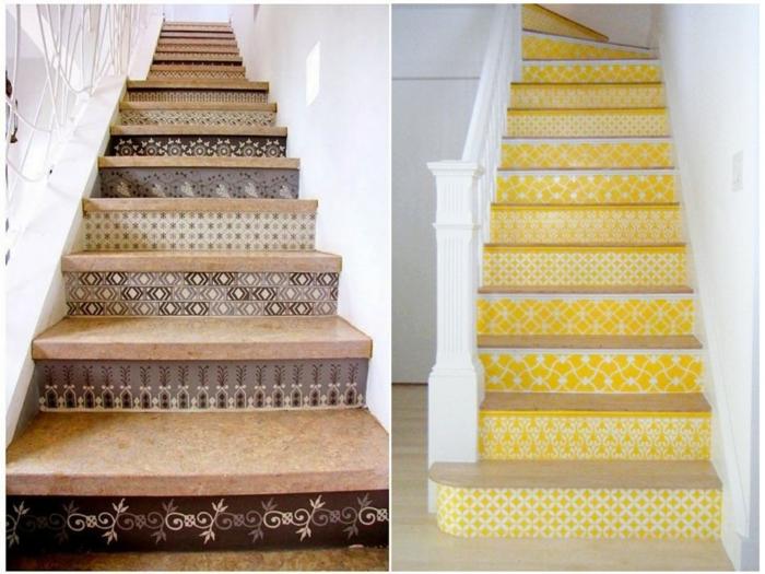 transformer l'escalier avec une décoration tendance