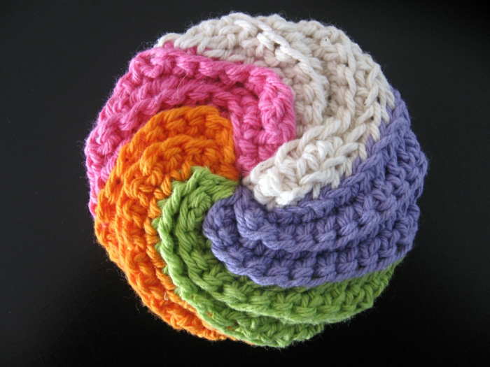 tricoter une éponge japonaise tawashi