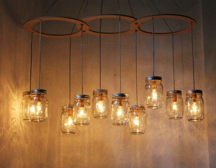 bocaux en verre luminaire fait maison