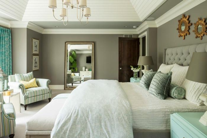 chambre tendance couleur sauge grisâtre
