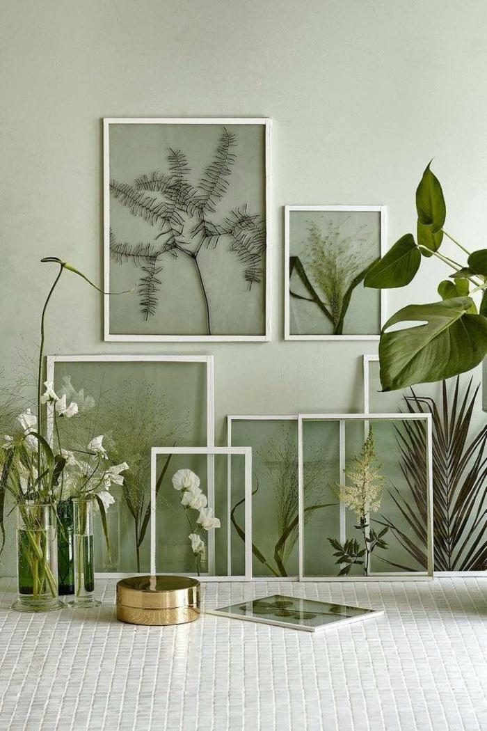 comment faire un herbier pour déco murale
