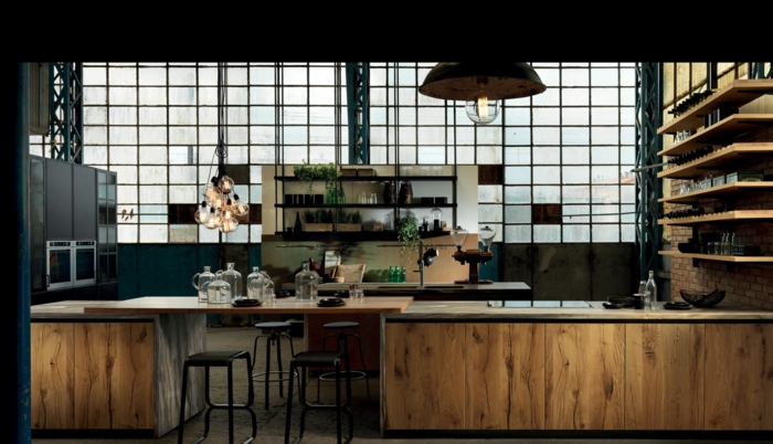 cuisine style industriel ambiance factory