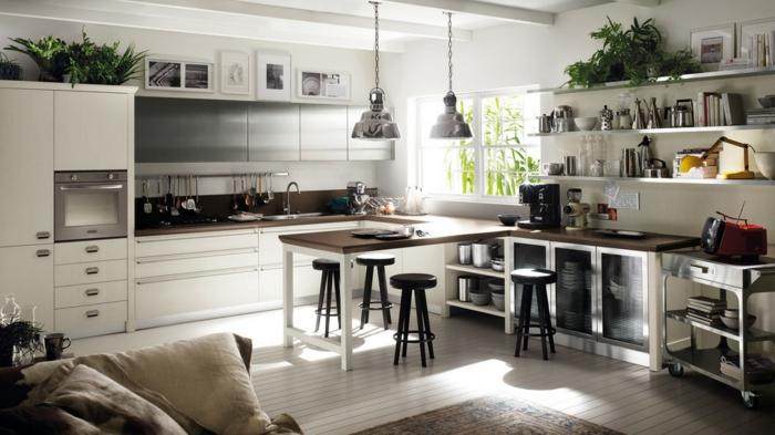 cuisine style industriel bois blanc