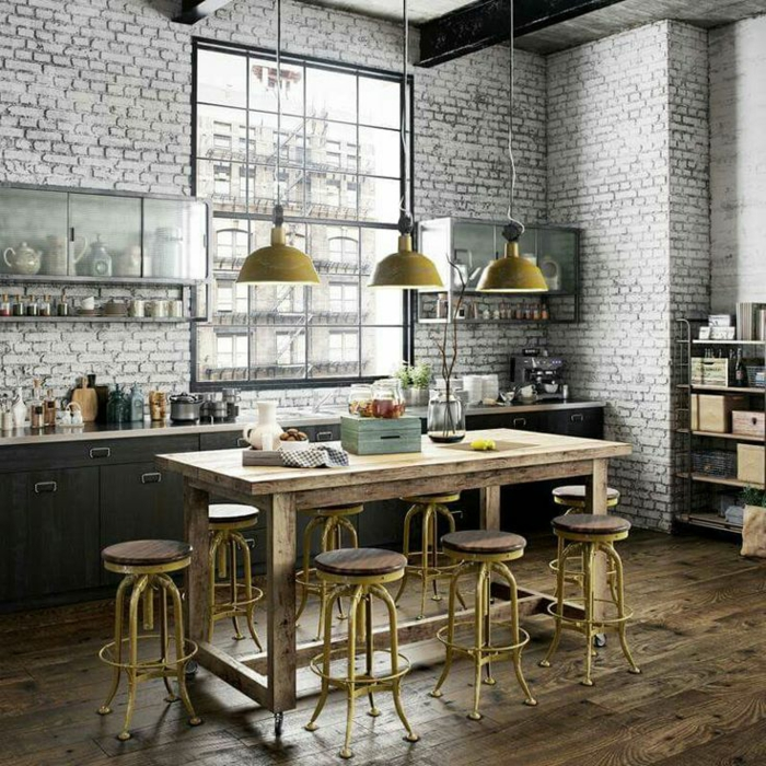 cuisine style industriel 50 coups de coeur pour l. Black Bedroom Furniture Sets. Home Design Ideas