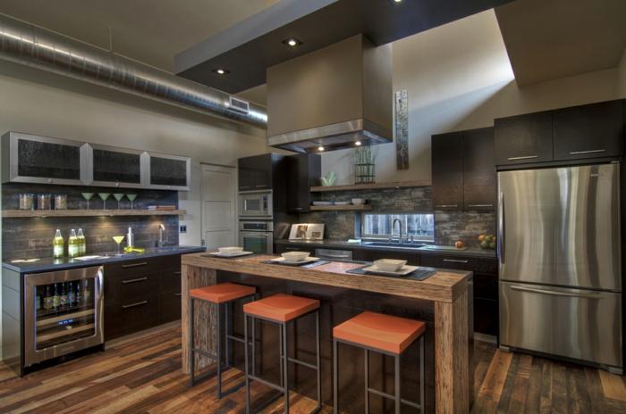 cuisine style industriel couleurs neutres