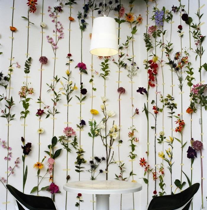 déco avec des fleurs idée comment faire un herbier