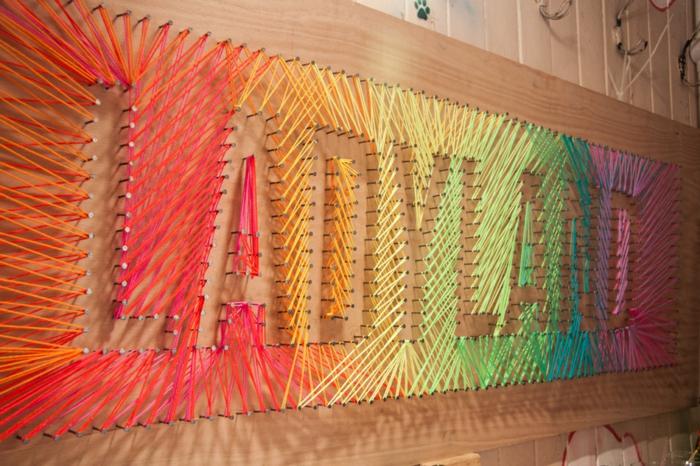 déco créative fabriquer un tableau fil tendu