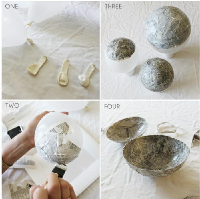 faire du papier mâché avec des balons